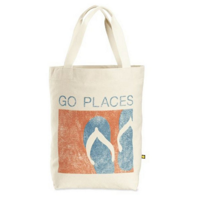 Life Is Good - Go Places Flip Flop Crop Messaging Tote