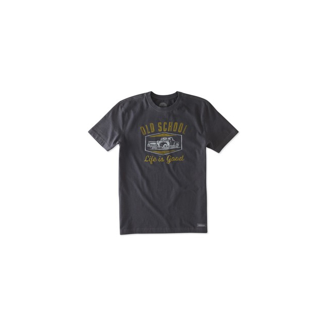 Life Is Good - Crusher Tshirt - Men's-NightBlk-M