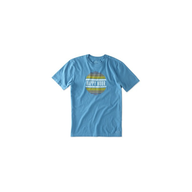Life Is Good - Happy Hour Tshirt - Men's-DenimBlu-S