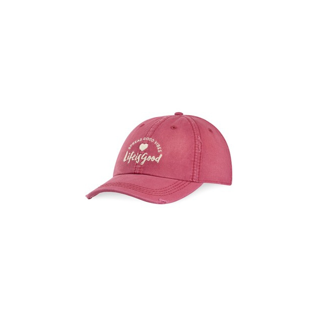 Life Is Good - Sunwashed Chill Cap-RoseBerr-One Size