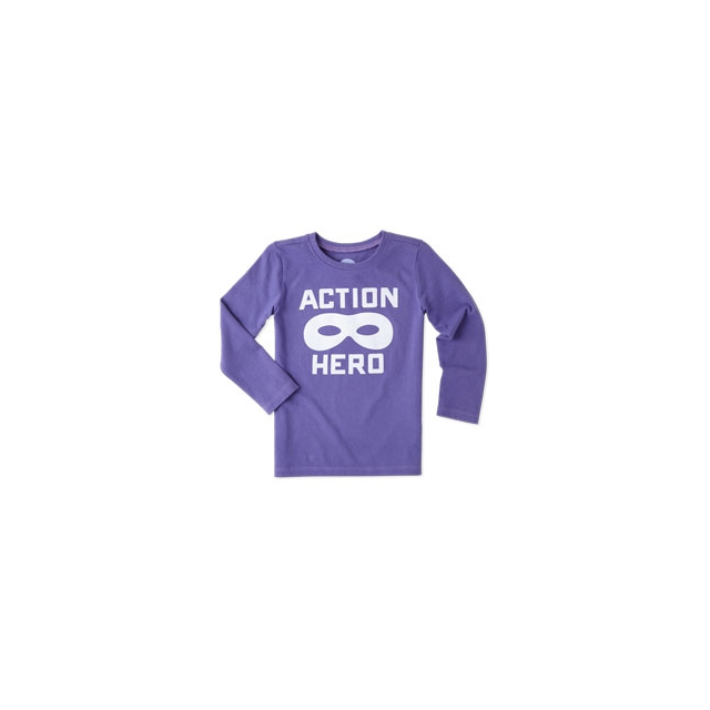Life Is Good - Boys Action Hero Mask Long Sleeve Tee - Toddler - Blue Violet In Size