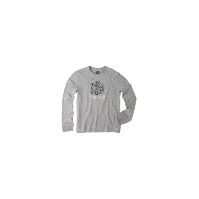 Life Is Good - Happy Hour Camp Long Sleeve Crusher Tee - Men's - Heather Grey In Size