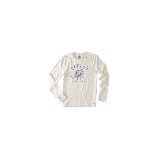 Life Is Good - Unplug Adirondack Long Sleeve Crusher Tee - Men's - Simply Ivory In Size