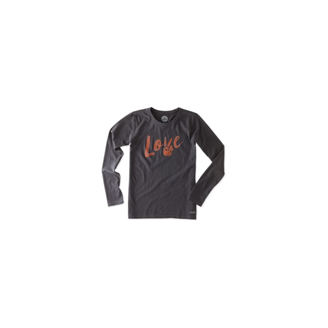 Life Is Good - Love & Peace Long Sleeve Crusher Tee - Women's - Night Black In Size