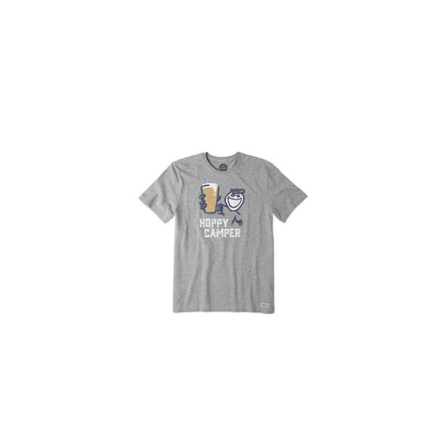 Life Is Good - Hoppy Camper Crusher Tee - Men's - Heather Grey In Size: Small