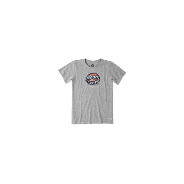 Life Is Good - Bottle Cap Vibes Crusher Tee - Women's - Heather Grey In Size