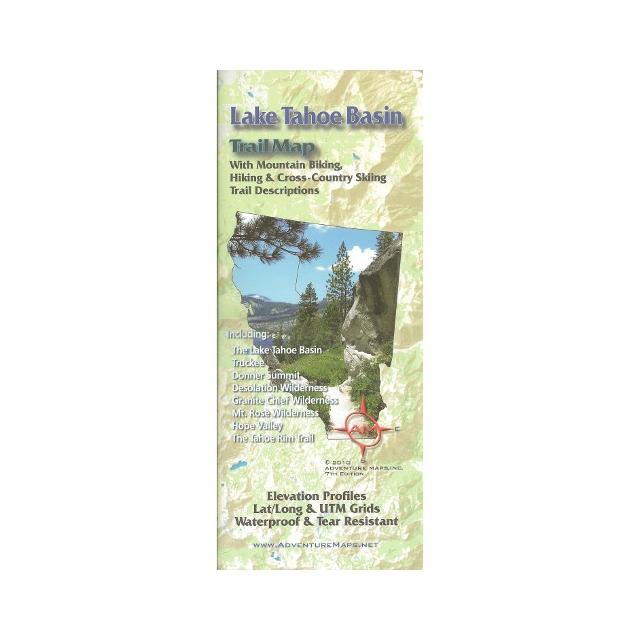 Adventure Maps - Lake Tahoe Basin Adventure Map