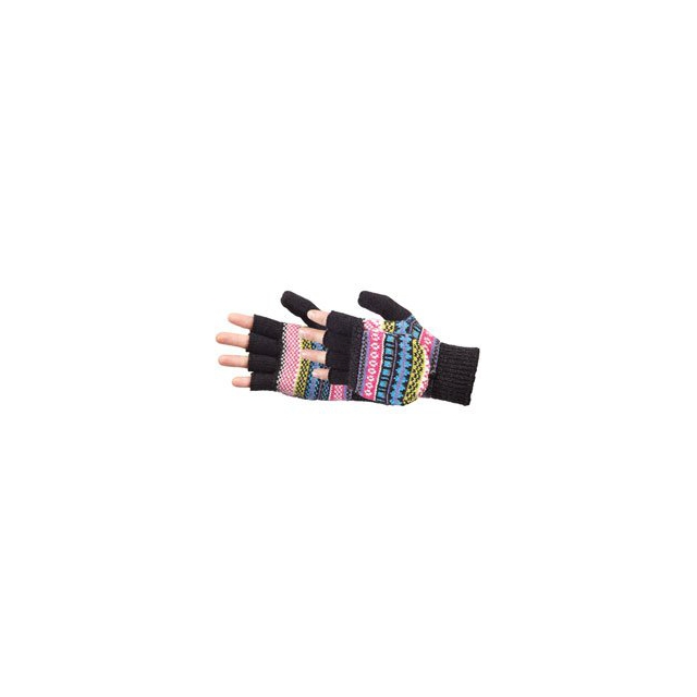 Manzella - Manzella Fairisle Convertible Gloves - Women's - Black