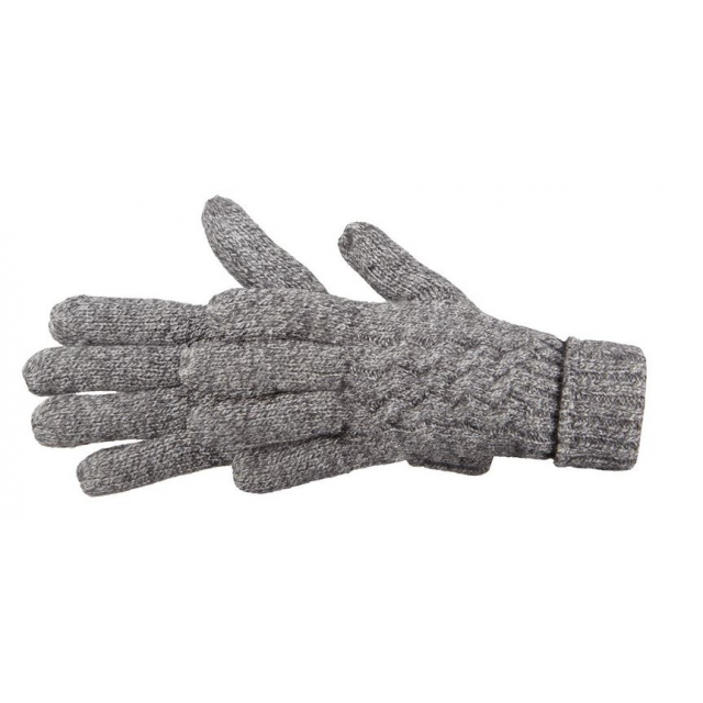 Manzella - - Cable Knit Glove W - SM/MD - Oxford Heather
