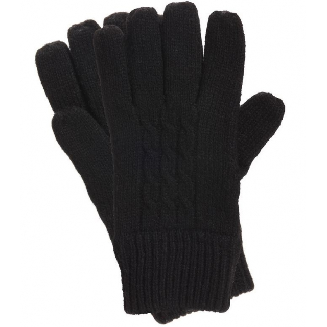 Manzella - - Cable Knit Glove W - SM/MD - Black