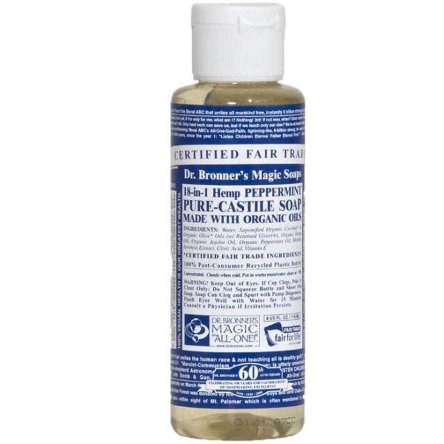 Dr Bronner's - Dr. Bronners Magic Soaps Peppermint Soap - Liquid Soap 4 OZ
