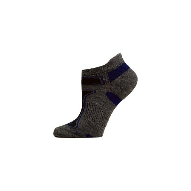 Balega - Ultra Light No Show Running Sock Adults', Grey/Royal, XL