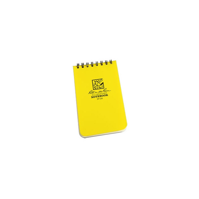 "Rite in the Rain - Top Spiral Notebook 3""x5"" - Yellow"
