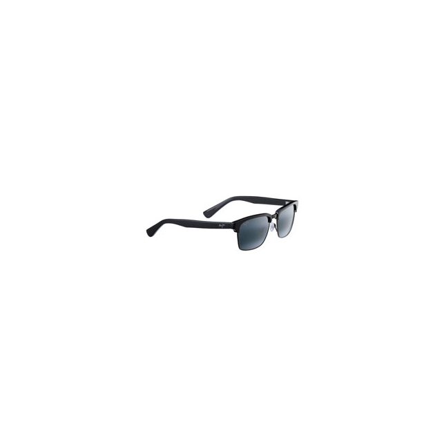 Maui Jim - Kawika Polarized Sunglasses - Black Gloss with Antique Pewter/Neutral Grey