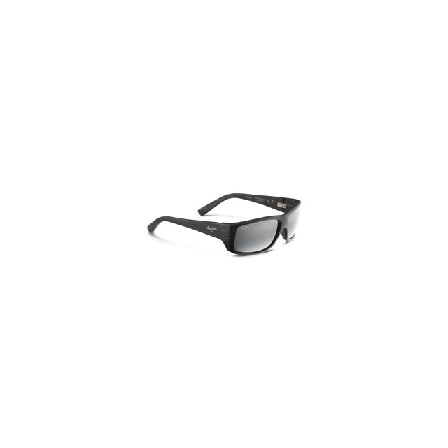 Maui Jim - Wassup Polarized Sunglasses - Matte Black Woodgrain/Neutral Grey