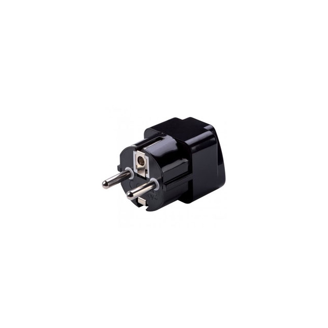 Lc Industries - Grounded Adapter Plug for Europe and Asia - Black