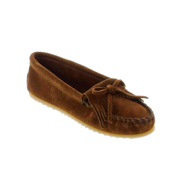 Minnetonka - - Kilty Suede Moccasin Brown
