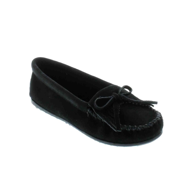 Minnetonka - - Kilty Suede Moccasin Black