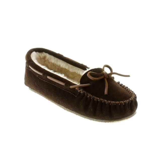 Minnetonka - - Cally Slipper Chocolate