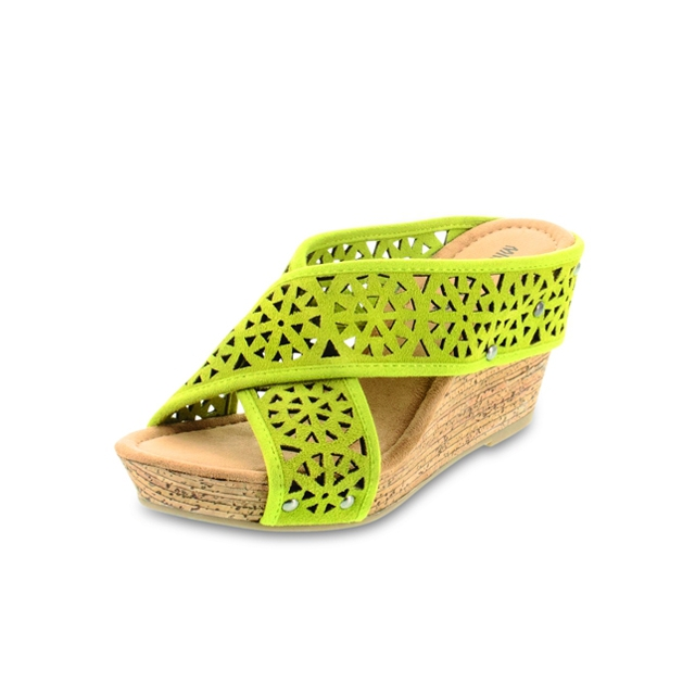 Minnetonka - Wedge Suede Sandal