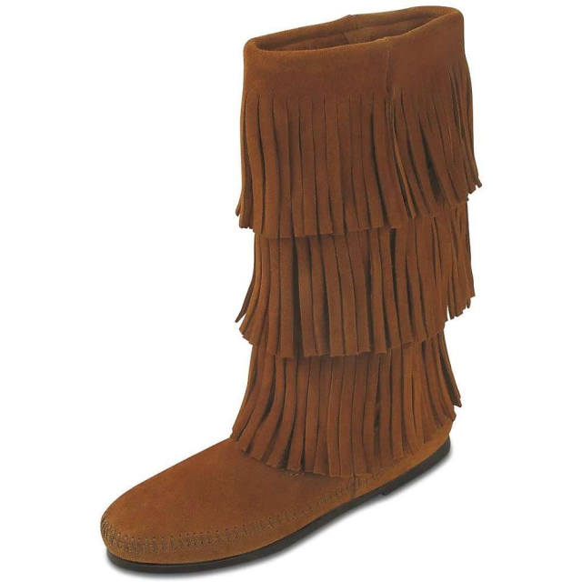 Minnetonka - Women's Calf Hi 3-Layer Fringe Boot