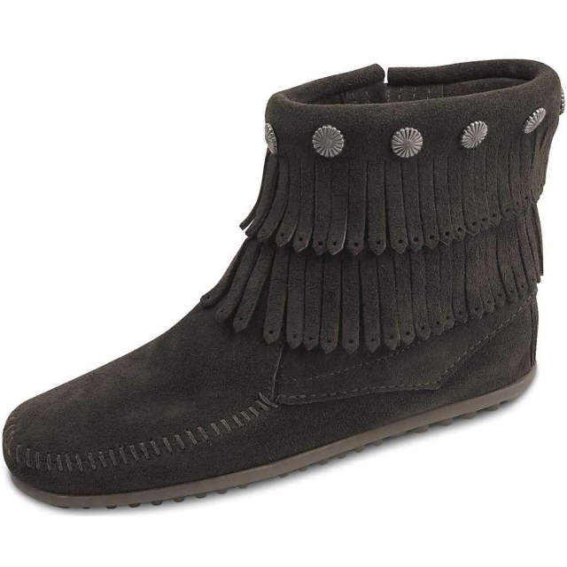 Minnetonka - Women's Double Fringe Side Zip Boot