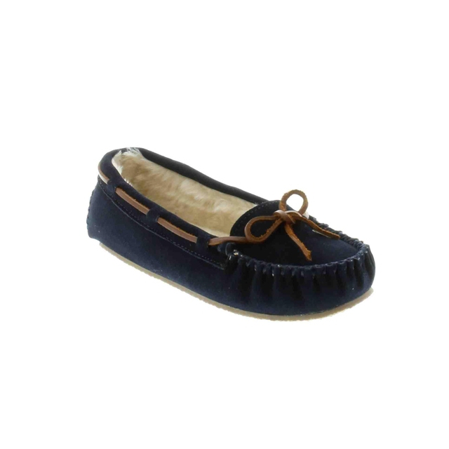 Minnetonka - - Cally Slipper Navy