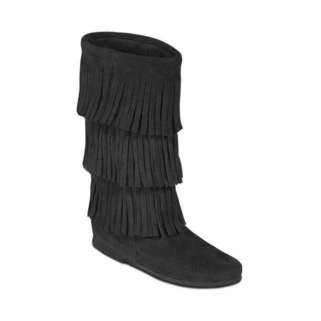 Minnetonka - - Black 3-Layer Fringe