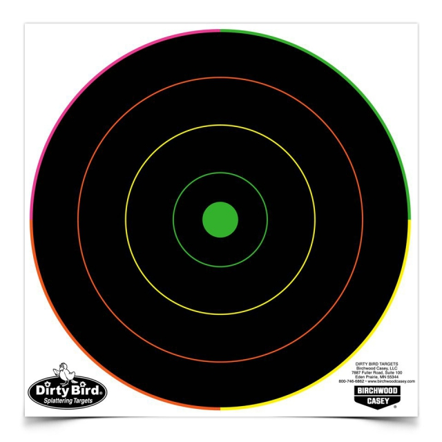 "Birchwood Casey - Dirty Bird® 8"" Multi-Color Bull's-eye Target"