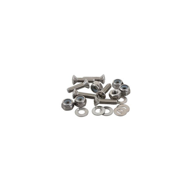 Sea-lect Designs - #8-32 Oval Head 1 Inch Fastener Set (Screw, Nyloc Nut, Washer) - In Size: 1in