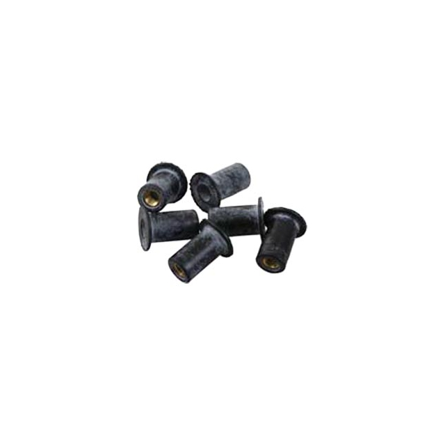 Sea-lect Designs - Sealect Designs 10-32 Well Nut 6-Pk - Black