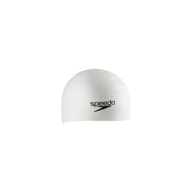 Speedo - Silicone Long Hair Swim Cap - White