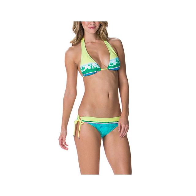 Oakley - Ocean Minded Triangle Bikini Top - Women's: Soft Citrons Multi, Small