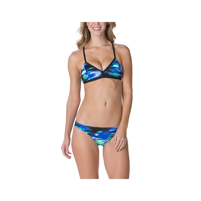 Oakley - Cloud Nine Power Triangle Bikini Top - Women's: Cloud Blue, Small