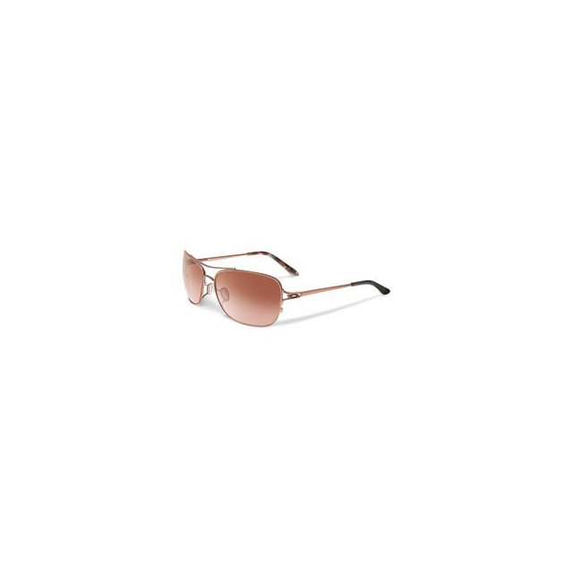 Oakley - Conquest Aviator Sunglasses - Women's - Rose Gold Brown Mosaic/VR50 Brown Gradient
