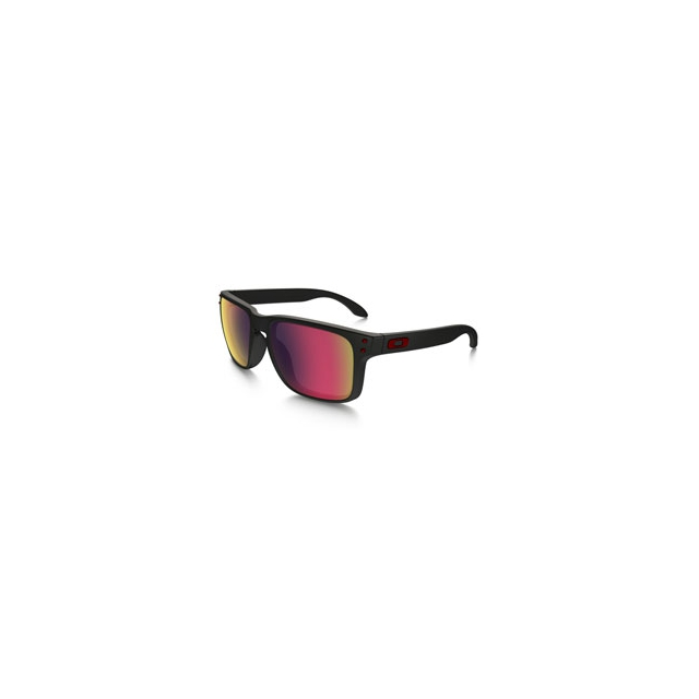 Oakley - Holbrook Iridium Sunglasses - Men's - Matte Black/Red Iridium