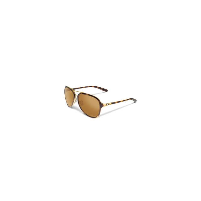Oakley - Kickback Polarized Pilot Sunglasses - Women's - Gold/Tortoise/Bronze Polarized