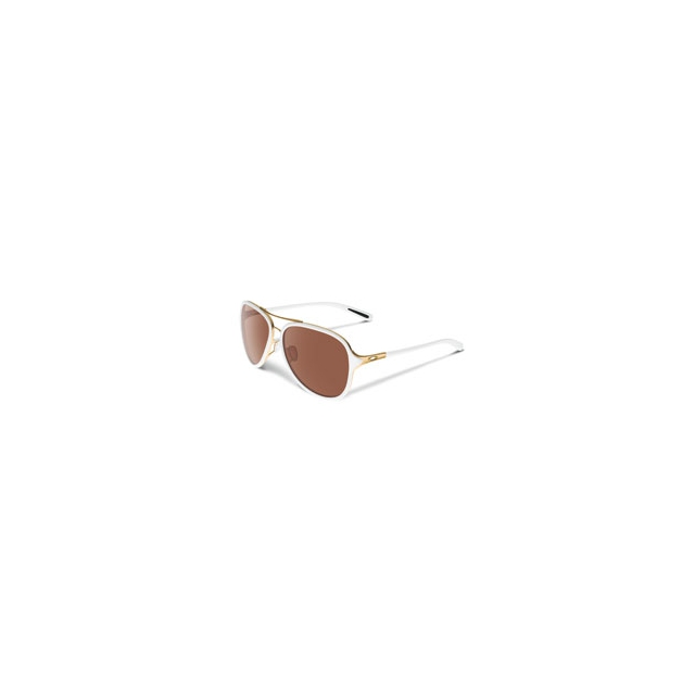 Oakley - Kickback Iridium Pilot Sunglasses - Women's - Gold/White/VR28 Black Iridium