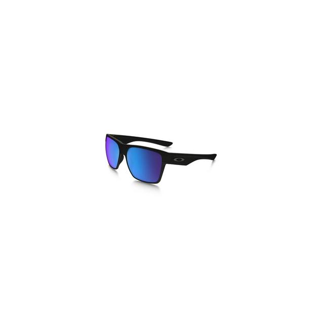 Oakley - Two Face XL Iridium Polarized Sunglasses - Men's - Matte Black/Sapphire Iridium Polarized