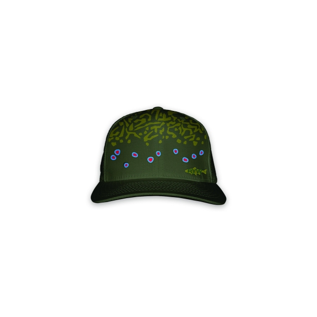 Rep Your Water - Brook Trout Skin Mesh Hat