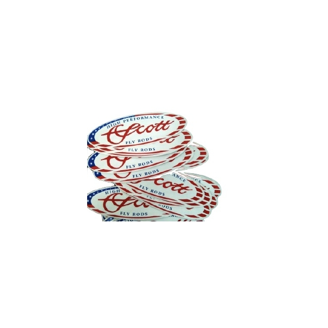 Scott Fly Rod - Scott Oval American Flag Decal