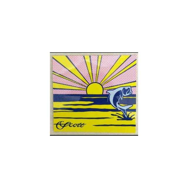 Scott Fly Rod - Tarpon/Rising Sun Decal