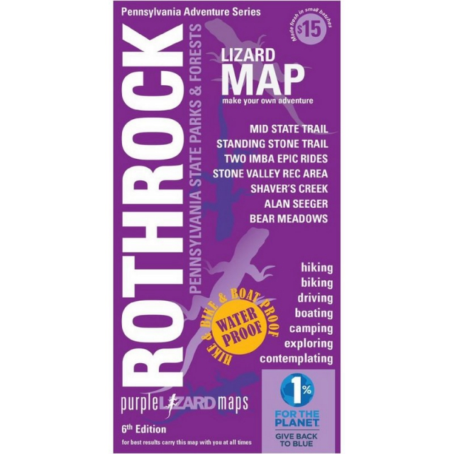 Purple Lizard Pub. - Rothrock Trail Map
