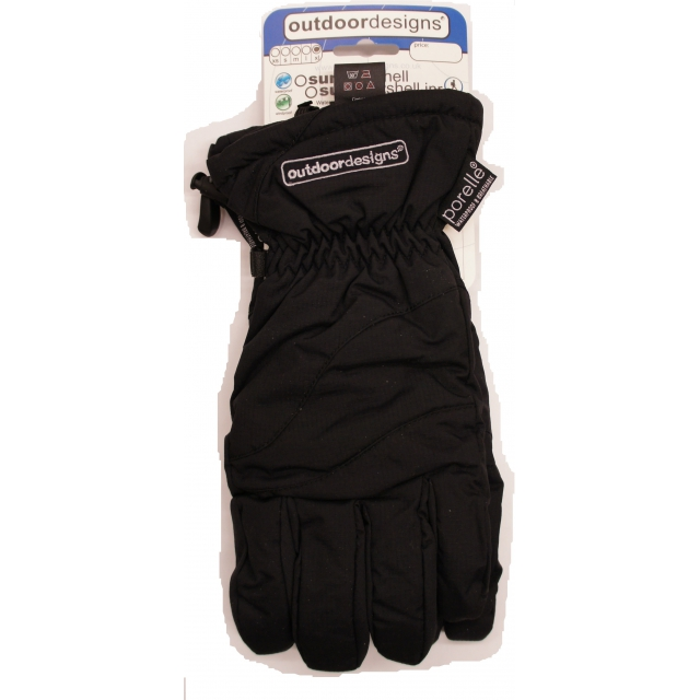Outdoor Designs - - Summit Shell Glove - Extra Large - Black