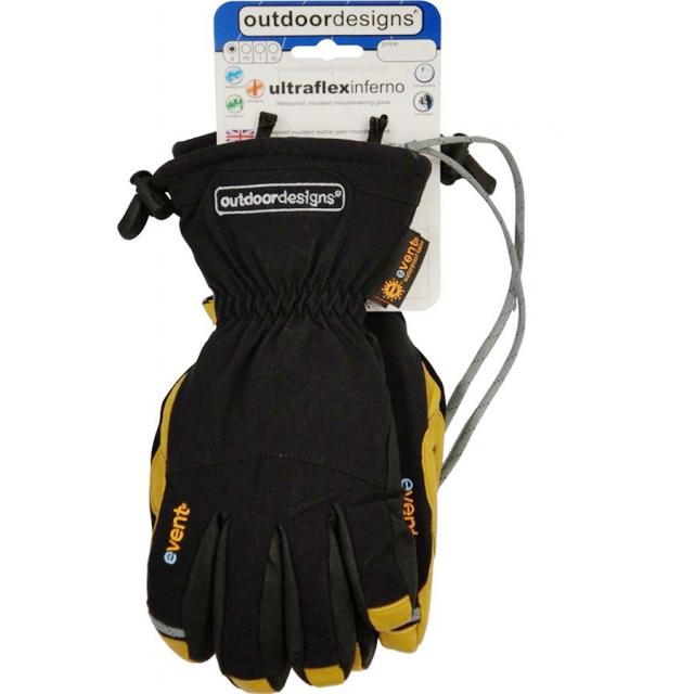 Outdoor Designs - - Ultraflex Inferno Gloves - Small - Black