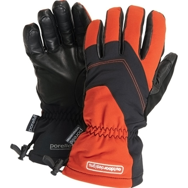 Outdoor Designs - - Deep Powder Glove - Small - Burnt Umber