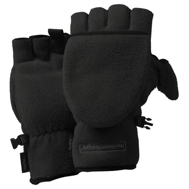 Outdoor Designs - - Fuji Convertible Glove - X-Large - Black