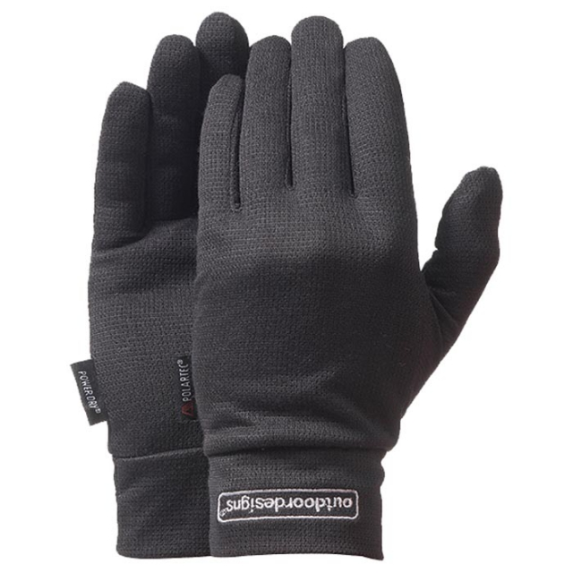 Outdoor Designs - - Layeron Liner Glove - Small - Black