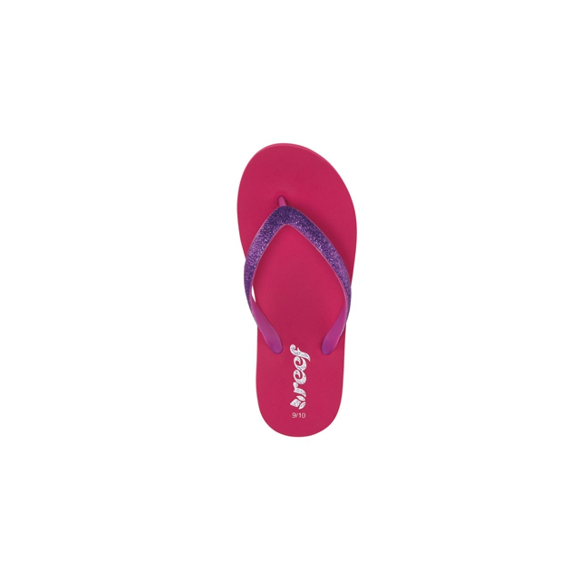 Reef - Little Stargazer Flip Flops - Girl's-Pink/Purple-7/8