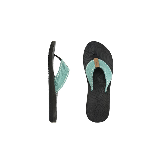 Reef - Zen Wonder Flip Flop - Women's-Black/Aqua-6